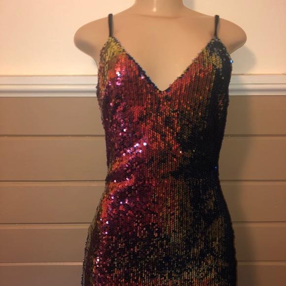 7e9f2a84 Windsor Dresses | Mini Sparkle Sequins Cocktail Party Multi Colorful ...